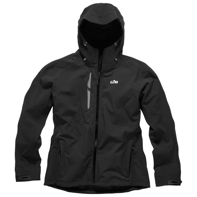 Gill Mens Hooded Pro Softshell Jacket Black