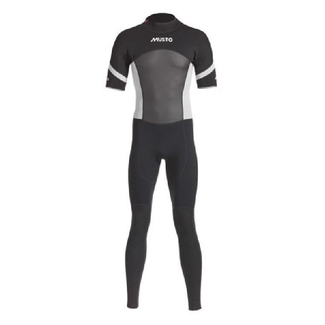 Musto Musto Short Arm Mens Wetsuit Black/Silver