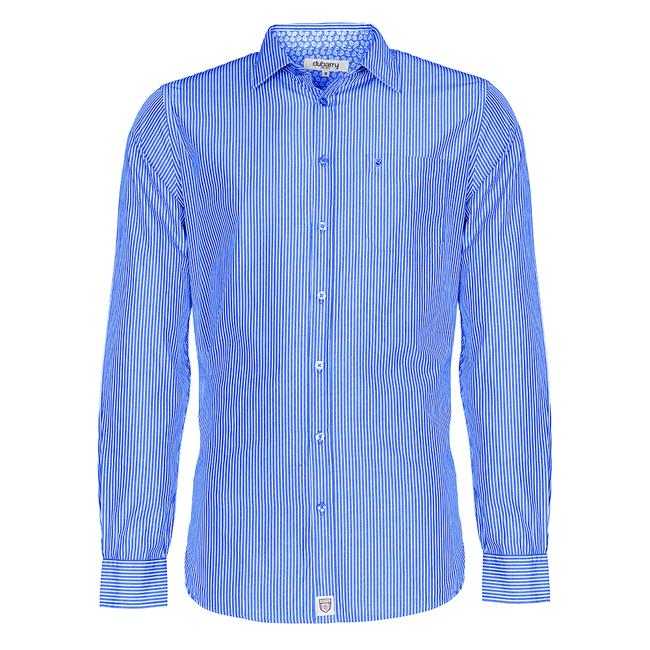 Dubarry Castlegar Mens Long Sleeve Shirt Blue (Small)