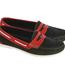 Dubarry Menorca Womens Deck Shoes Denim/Red (Size 3)