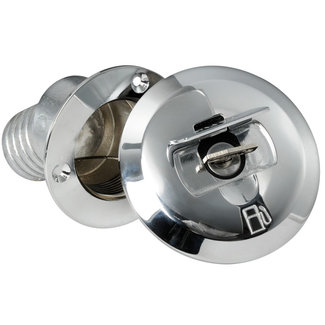 Pirates Cave Value Chrome Brass Fuel Straight Deck Filler 38mm