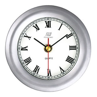 Plastimo Plastimo Matt Chrome Clock 4""