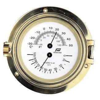 "Plastimo Plastimo Brass Thermometer Hygrometer 4.5"""