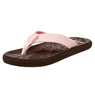 Reef Reef Seaside Womens Flip Flops Brown/Hot Pink