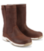 Maindeck Waterproof Short Leather Sailing Boots Brown