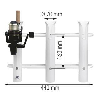 Plastimo Plastimo Fishing Rod Rack For 3 Rods
