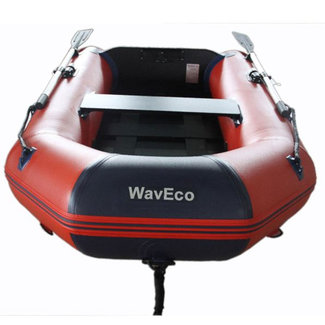 WavEco WavEco 2.5m Slatted Floor Ultra Solid Transom Inflatable Dinghy Red