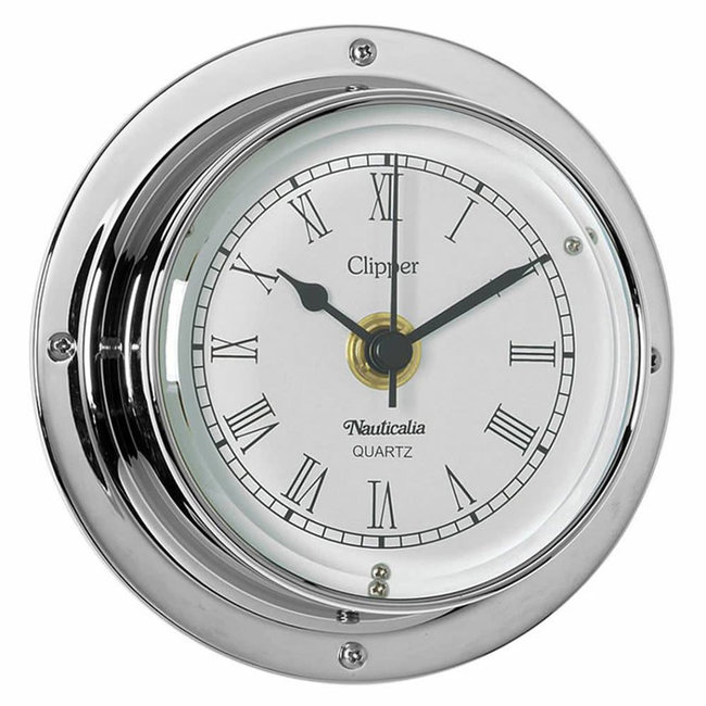 Nauticalia Clipper Tarnish-free QuickFix Chrome Clock