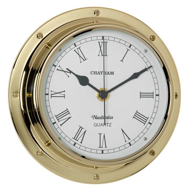 Nauticalia Chatham Waterproof Tarnish-Free QuickFix Brass Clock