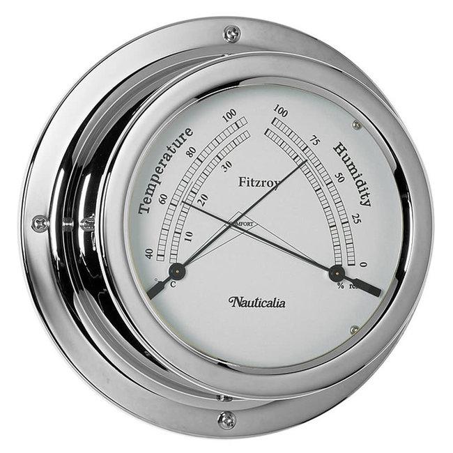 Nauticalia Fitzroy Tarnish-free QuickFix Chrome Thermometer/Hygrometer