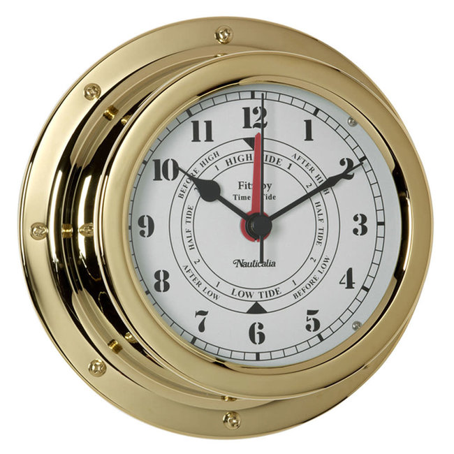 Nauticalia Fitzroy Waterproof Tarnish-Free QuickFix Brass Tide Clock