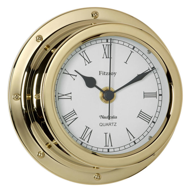 Nauticalia Fitzroy Waterproof Tarnish-Free QuickFix Brass Clock