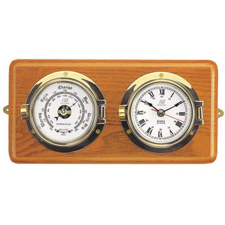 "Plastimo Plastimo 3"" Clock & Barometer Mounted Set On Board"