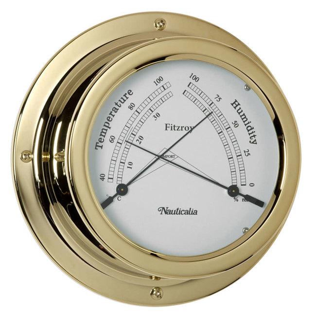 Nauticalia Fitzroy Tarnish-Free QuickFix Brass Thermometer/Hygrometer