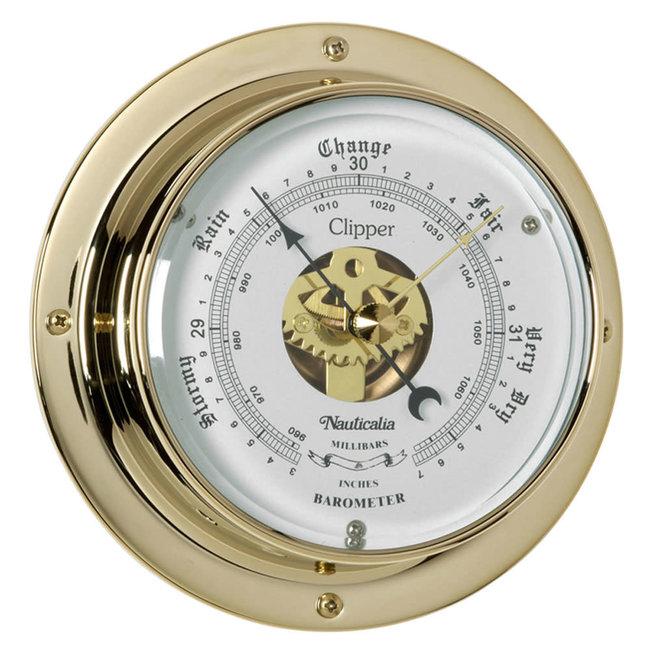 Nauticalia Clipper Tarnish-Free QuickFix Brass Barometer