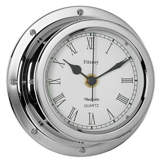 Nauticalia Fitzroy Tarnish-free QuickFix Chrome Clock