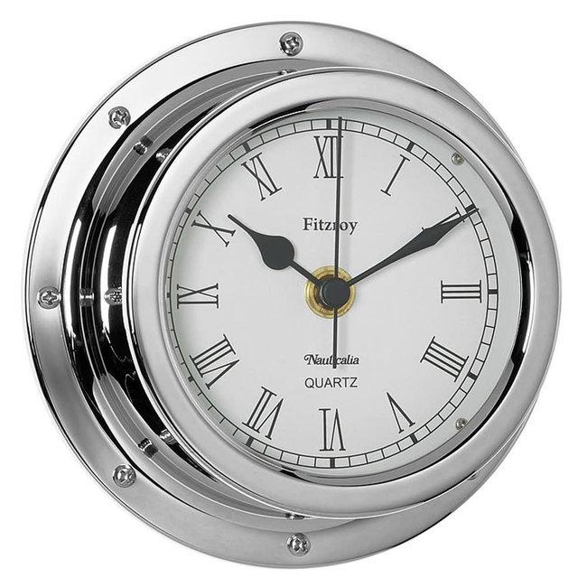 Nauticalia Nauticalia Fitzroy Chrome Clock