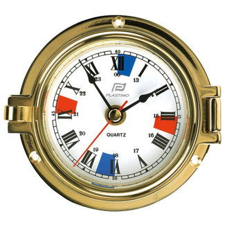 Plastimo Plastimo Brass Clock with Silent Zones