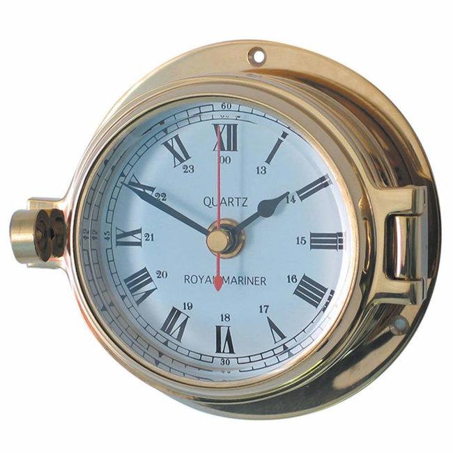 "Channel Range Brass Clock 3"""