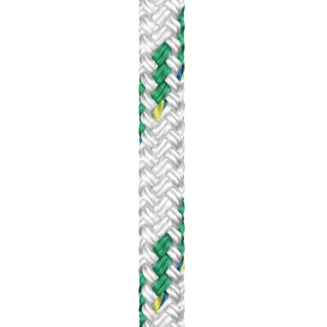 Braid on Braid Polyester Green Colour Fleck Rope 18mm x 20m