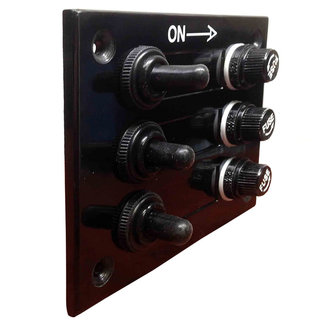 Pirates Cave Value Fused 3 Way Switch Bakelite Panel