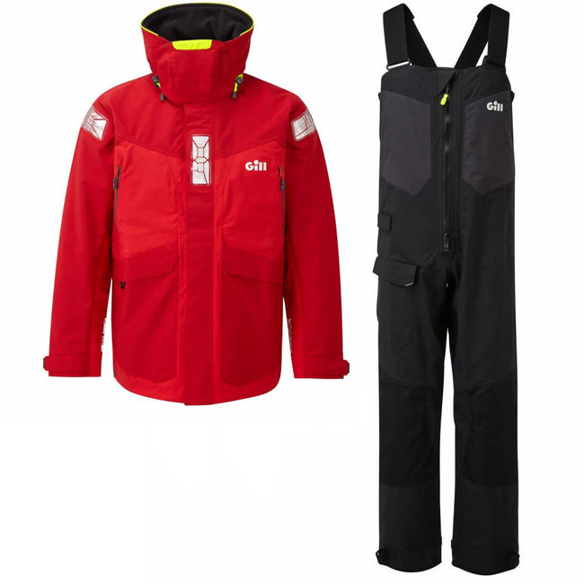 Gill OS2 2021 Mens Sailing Suit Red/Black