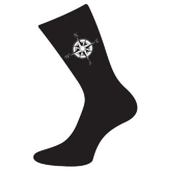 Crew Socks Compass Motif