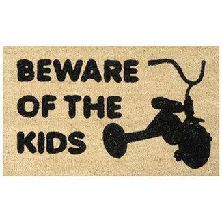Nauticalia Door Mat -  Beware Of The Kids
