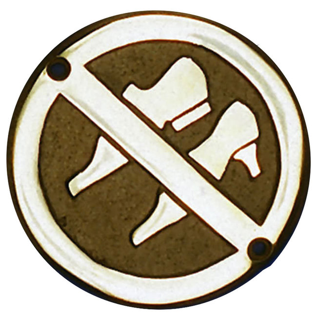 Brass Sign - No Shoes