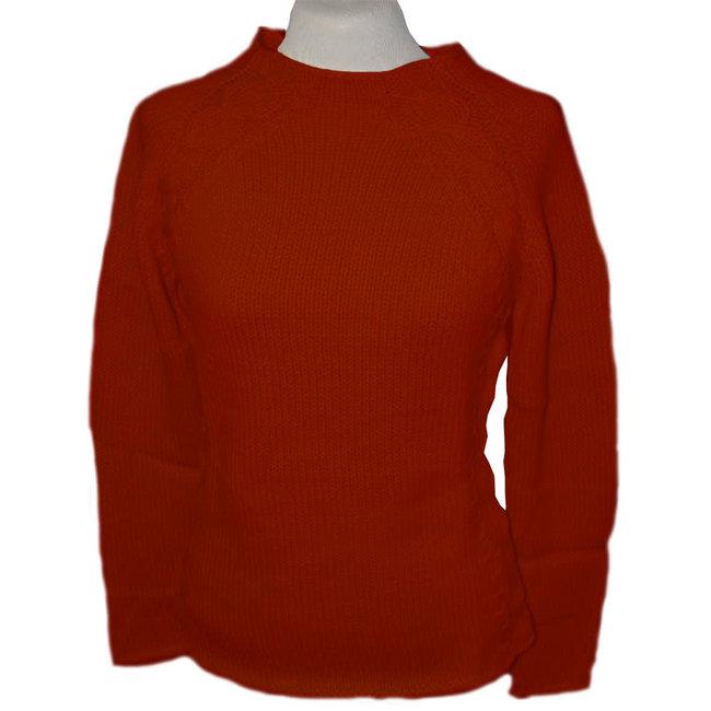 Alpaca Almarma Womens O-Neck Sweater Rustic Orange