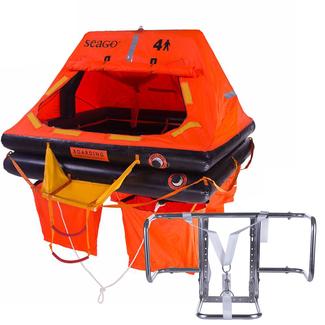 Seago Seago 4 Man Sea Master Life Raft + Premium Life Raft Cradle