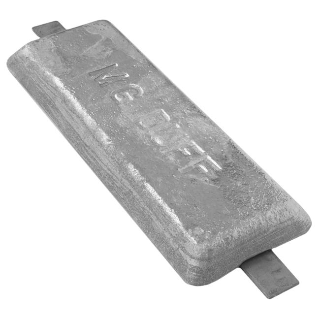 MG Duff AD60 Aluminium Weld On Bar Anode 2.9kg