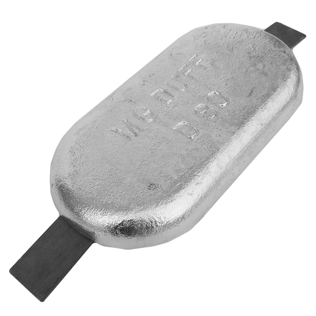 MG Duff ZD80 Zinc Weld On Bar Anode 8kg