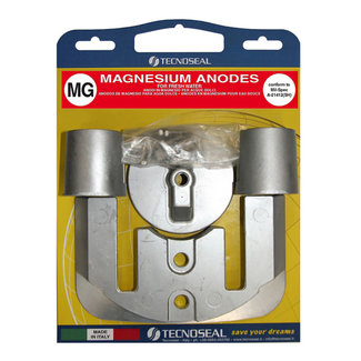 Tecnoseal Tecnoseal Magnesium Mercury Bravo 2 & 3 Engine Anode Kit