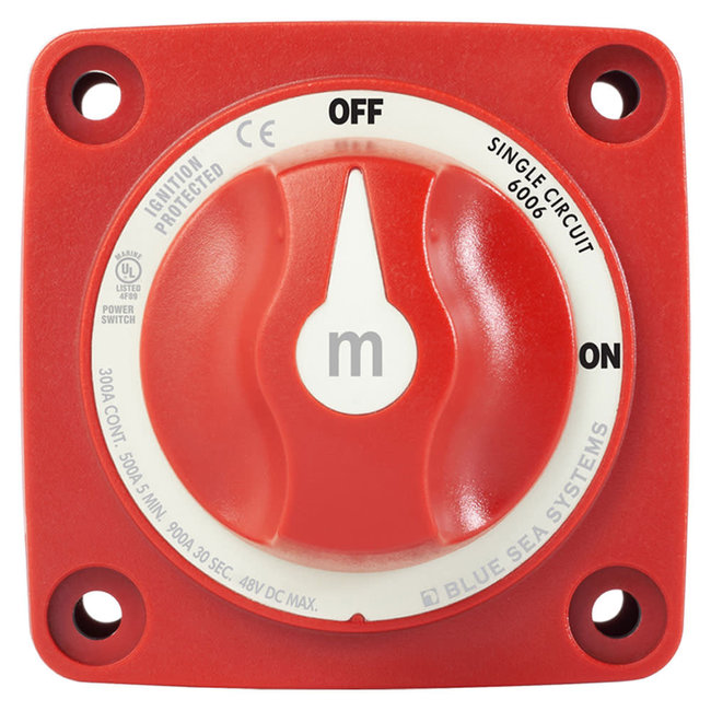 Blue Sea M-Series 2 Position ON/OFF Battery Isolator Switch With Knob