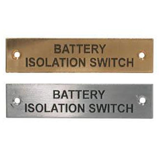 Pirates Cave Value Battery Isolation Switch Label