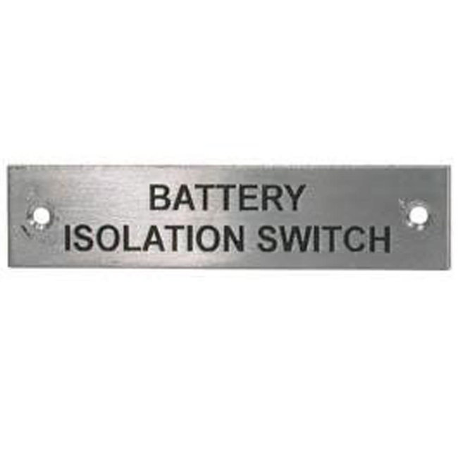 Battery Isolation Switch Label