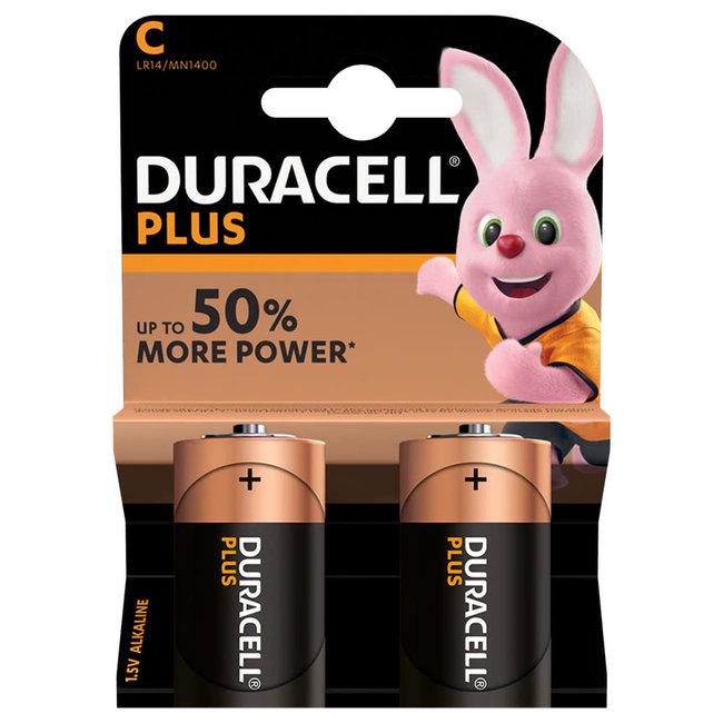 Duracell Plus C Alkaline Batteries