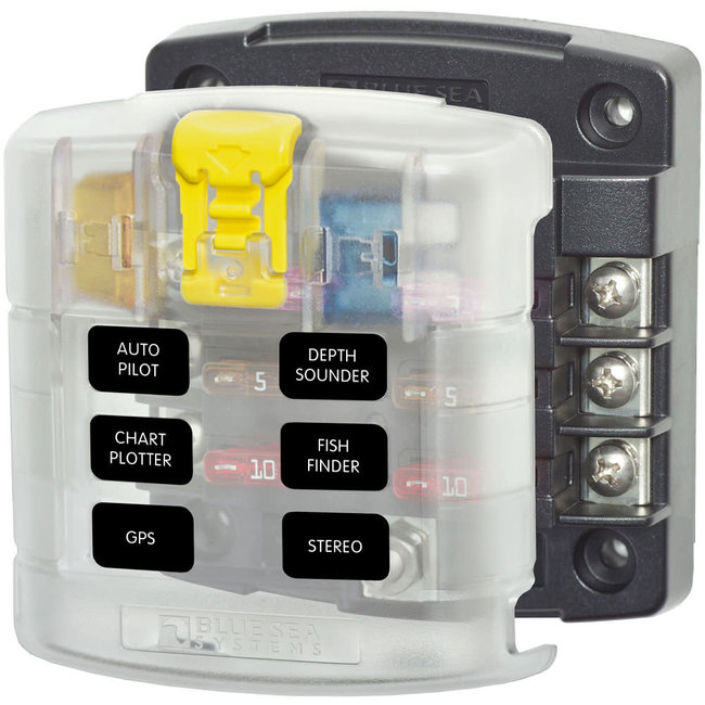 Blue Sea Systems Blue Sea ST Blade 6 Circuit Fuse Block w/ Cover