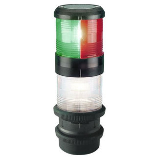Aqua Signal 50m Aqua Signal Series 40 Quickfit Masthead Type Tricolor and Anchor Navigation Light Black
