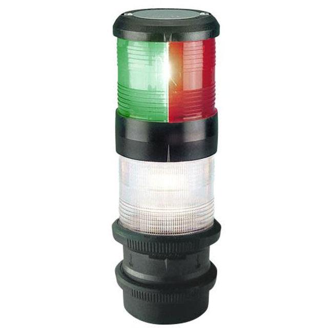 50m Aqua Signal Series 40 Quickfit Masthead Type Tricolor and Anchor Navigation Light Black