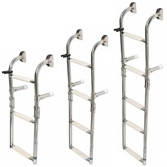 Osculati Osculati Foldable Wall Mount Ladder S/S