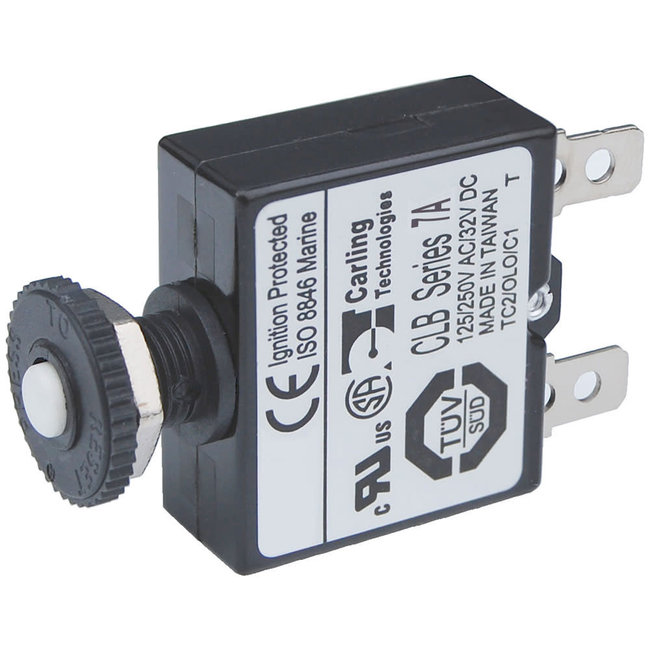 Blue Sea Quick Connect Circuit Breaker - Push Button Reset Only