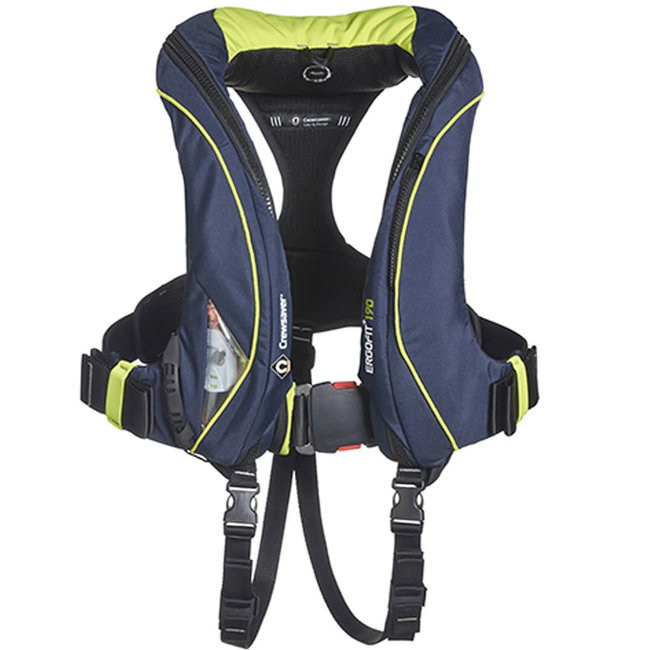 Crewsaver ErgoFit+ 190N Automatic Life Jacket with Harness, Light & Hood