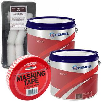Hempel Hempel Broads Antifoul 2.5L (x2) + FREE Roller Pack & Masking Tape