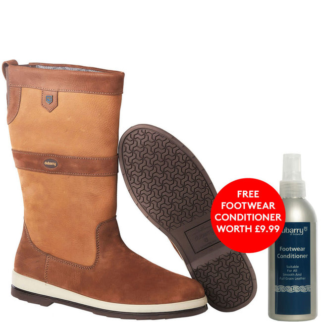 Dubarry Ultima GORE-TEX Sailing Boots Brown 2021 + FREE Footwear Conditioner
