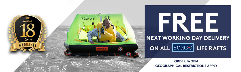 Seago Life Rafts - FREE Next Working Day Delivery