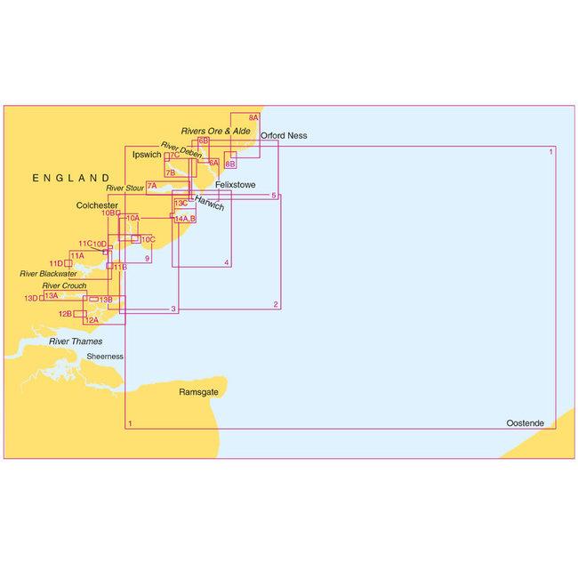 Admiralty SC5607 Thames Estuary - Essex & Suffolk Coasts (Small Craft Folio)