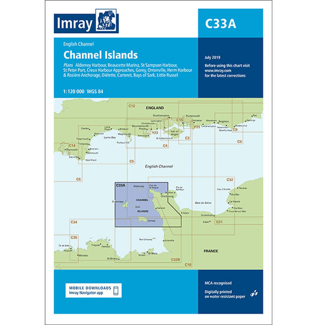 Imray C33A Channel Islands Charts