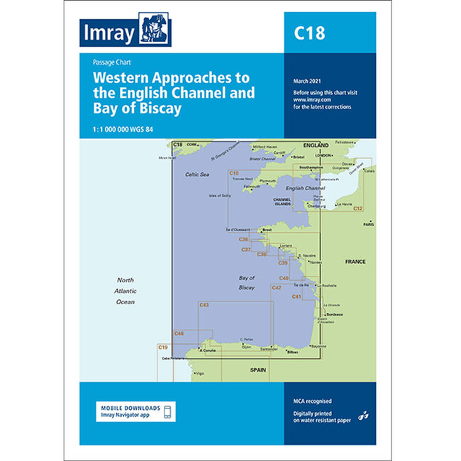 Imray C18 Western Approaches to the English Channel & Biscay Charts